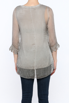Variations  Grey Lace Tunic Top - Alternate List Image