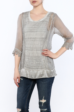 Variations  Grey Lace Tunic Top - Product List Image