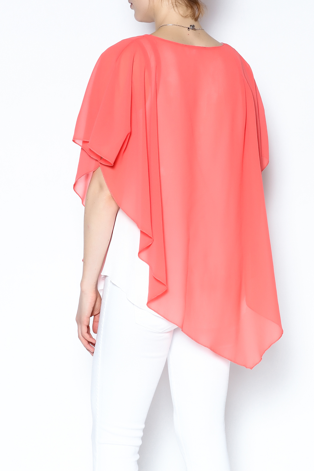 Variations  Pullover Poncho Blouse - Back Cropped Image