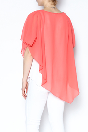 Variations  Pullover Poncho Blouse - Back cropped
