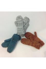 Look By M  Variegated knit mittens - Product Mini Image