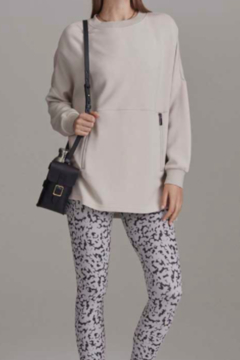 Varley Blush Extra Soft Tunic with small side slits - Alternate List Image