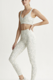 Varley Mint Green Confetti Printed legging - Product Mini Image