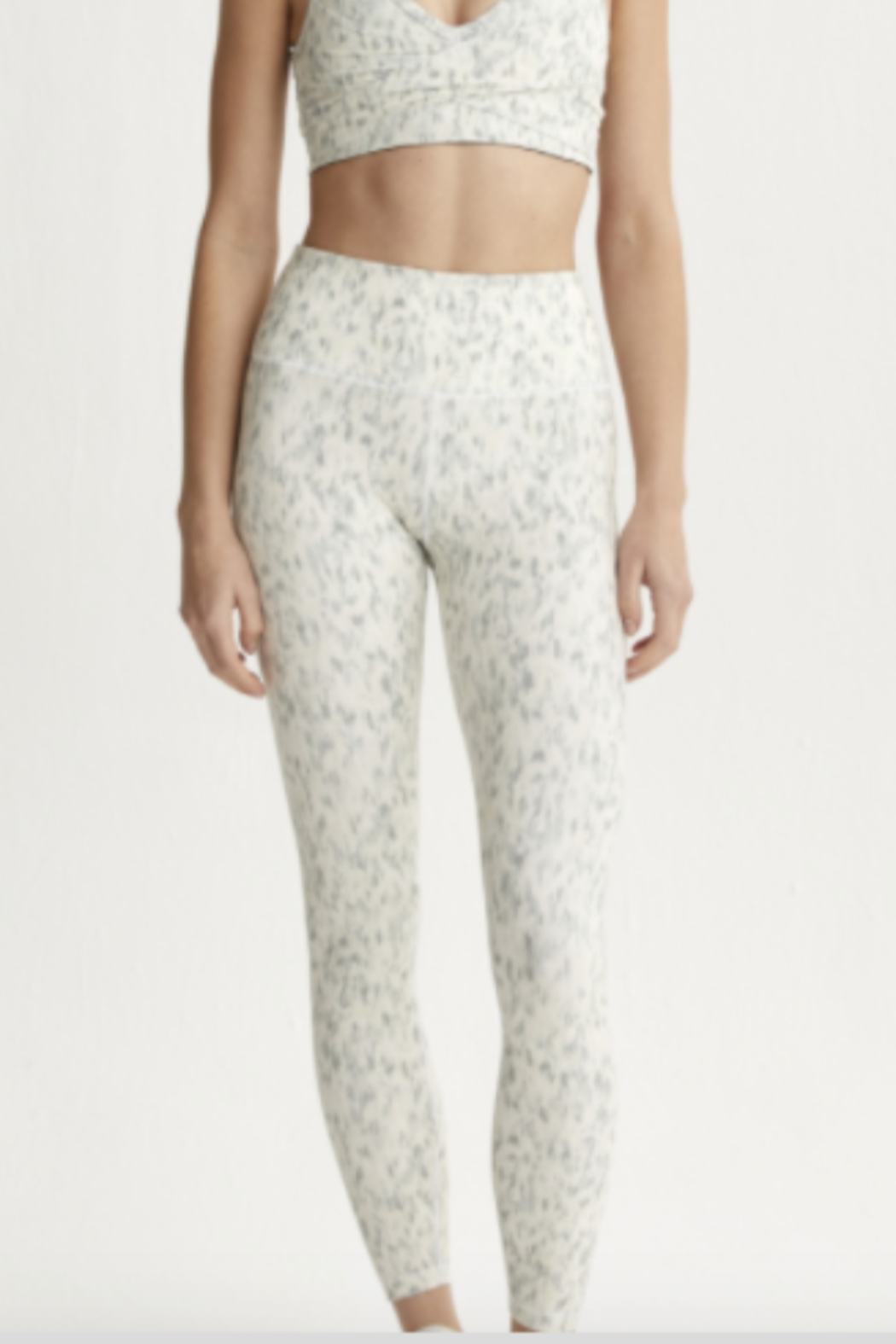Varley Mint Green Confetti Printed legging - Back Cropped Image