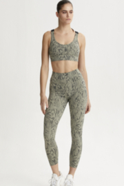 Varley Olive Wood Grain Printed Legging - Product Mini Image