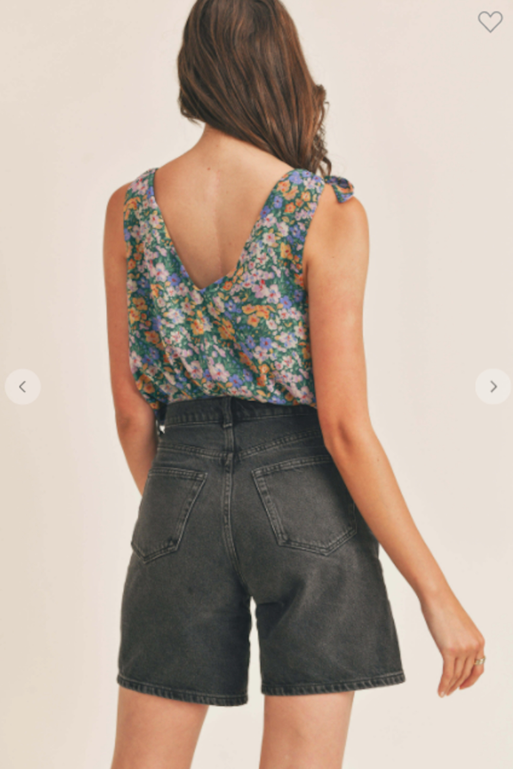 Lush  Valerie Printed Tie Strap Bodysuit - Side Cropped Image