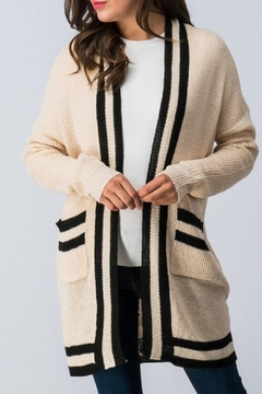 Trend:notes Varsity Stripe Cardigan - Product List Image