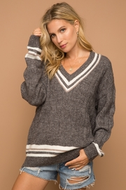 Hem & Thread Varsity Stripe Sweater - Product Mini Image