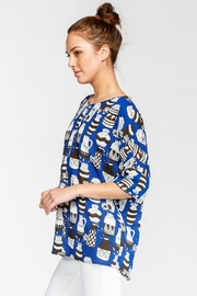 Cherish Vase Print Blouse - Product Mini Image