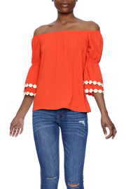 VaVa Orange Blouse - Product Mini Image