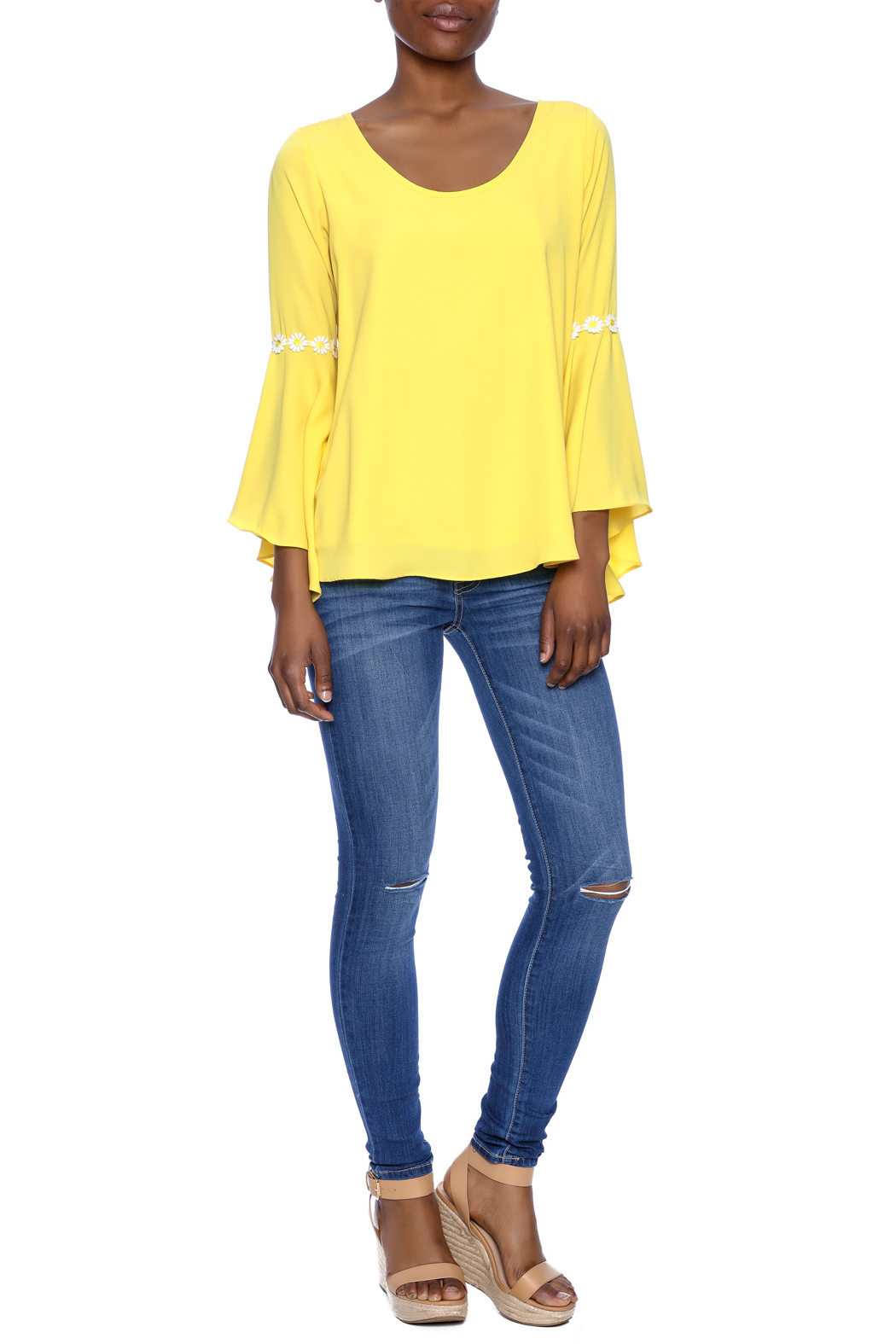 VaVa Yellow Blouse - Front Full Image