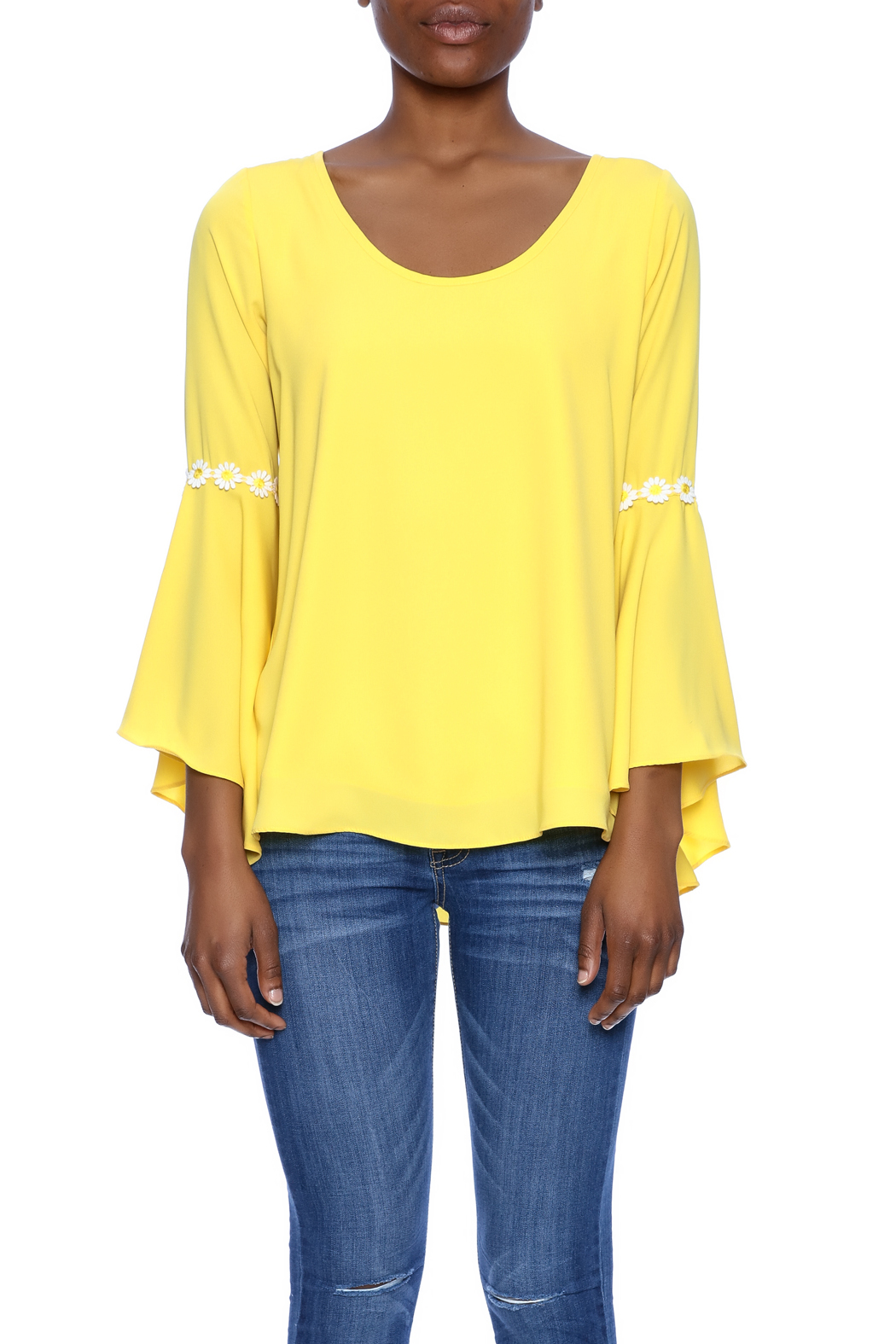 VaVa Yellow Blouse - Side Cropped Image