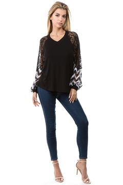 Vava by Joy Hahn Chevron V-Neck Top - Product List Image