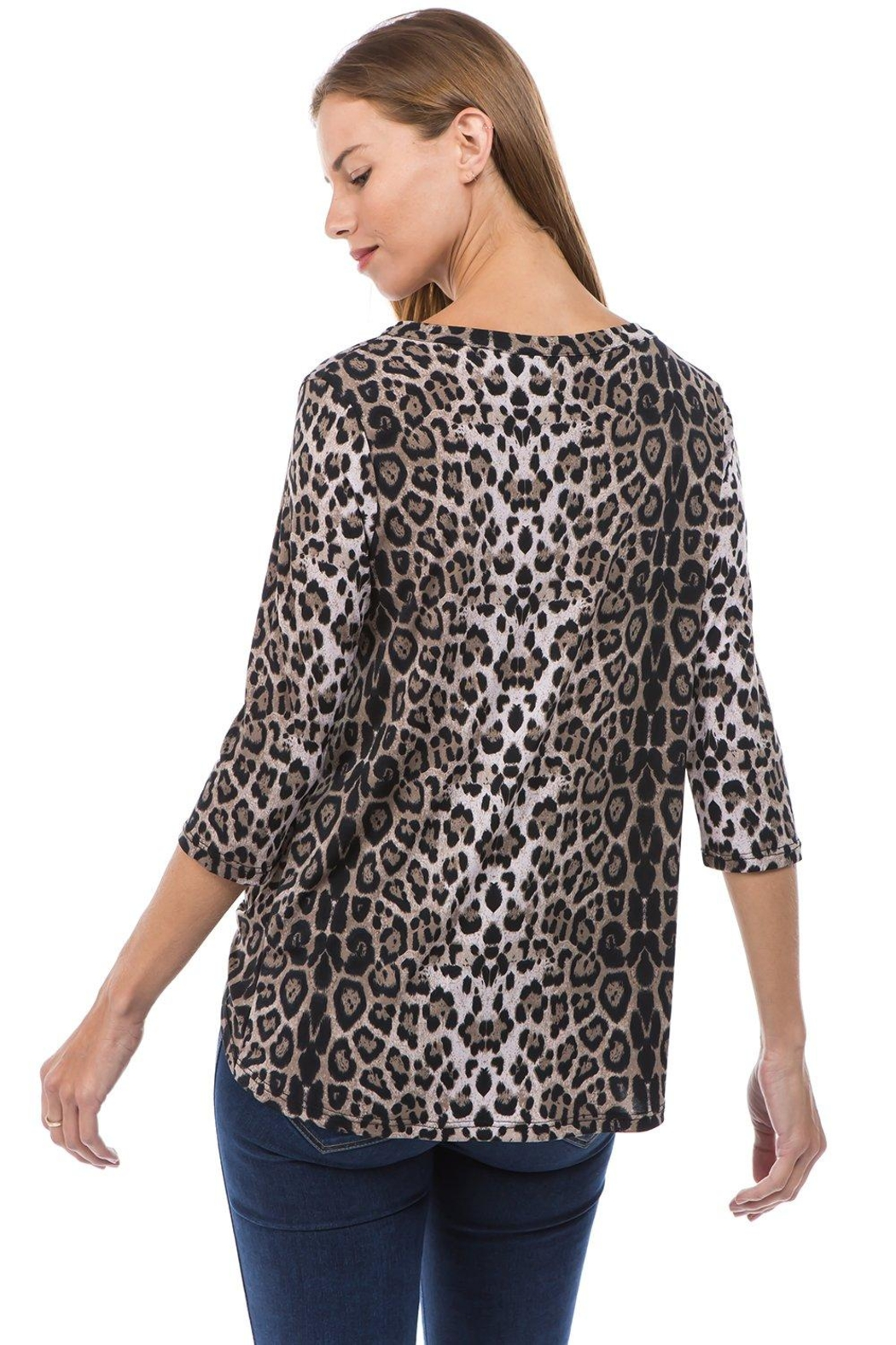 Vava by Joy Hahn Rosalie Knot-Front Top - Side Cropped Image