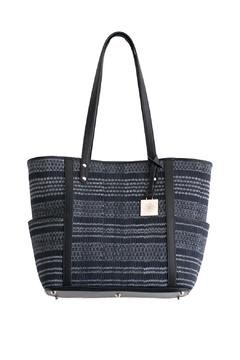 Vayu Black Ikat Woven Bag - Alternate List Image