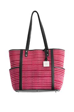 Shoptiques Product: Red Ikat Woven Bag