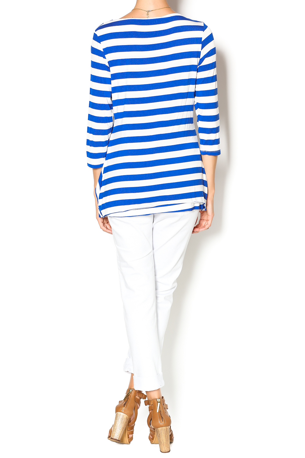 Vecceli Italy Striped Tunic - Side Cropped Image
