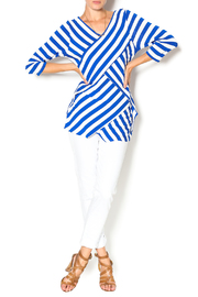 Vecceli Italy Striped Tunic - Front full body