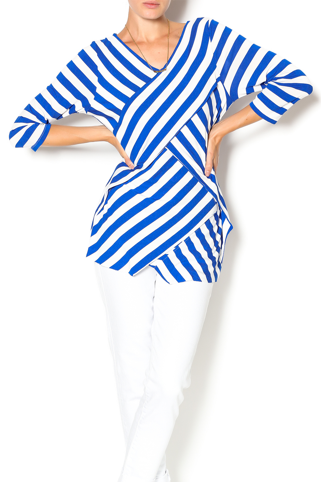 Vecceli Italy Striped Tunic - Main Image