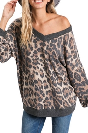CY Fashion Vee Neck Leopard - Front cropped
