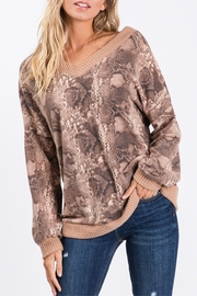CY Fashion Vee Neck Snakeskin - Front cropped
