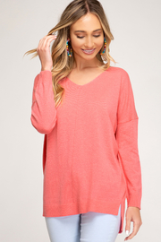 She & Sky  Vee Tunic Sweater - Product Mini Image