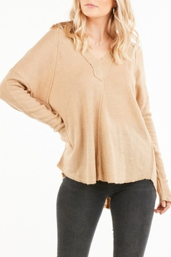 Very J Vee Waffle Knit Top - Product List Image