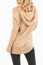 Very J Vee Waffle Knit Top - Front full body