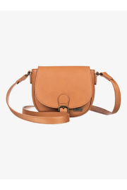 Roxy Vegan Brownie Small Faux Leather Shoulder Bag - Front cropped