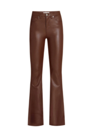 Veronica Beard Vegan Leather Beverly High Rise Flare - Front cropped
