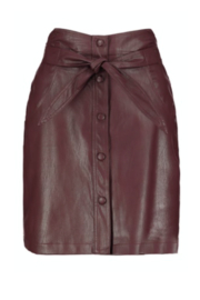 Bishop + Young Vegan Leather Button Front Skirt - Front cropped