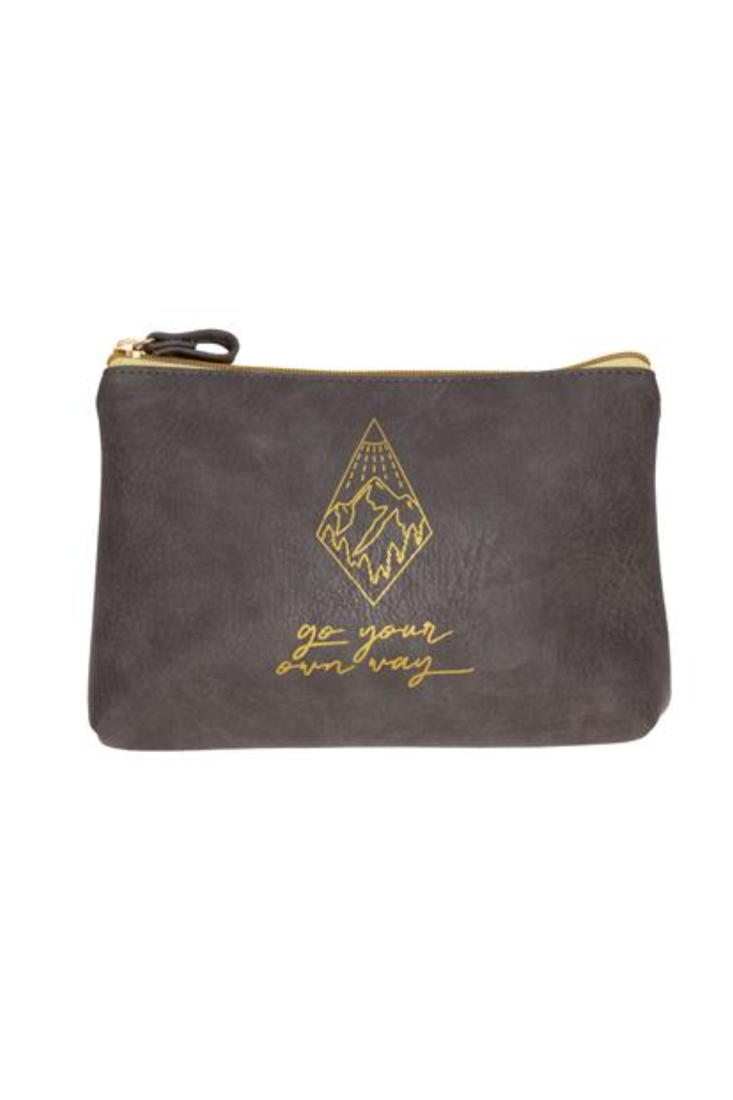 Karma Vegan Leather Cosmetic Bags - Front Cropped Image