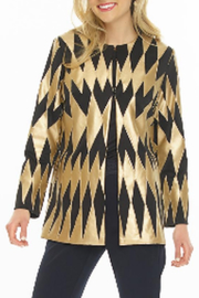 weavz Vegan Leather Gold Jacket - Product Mini Image