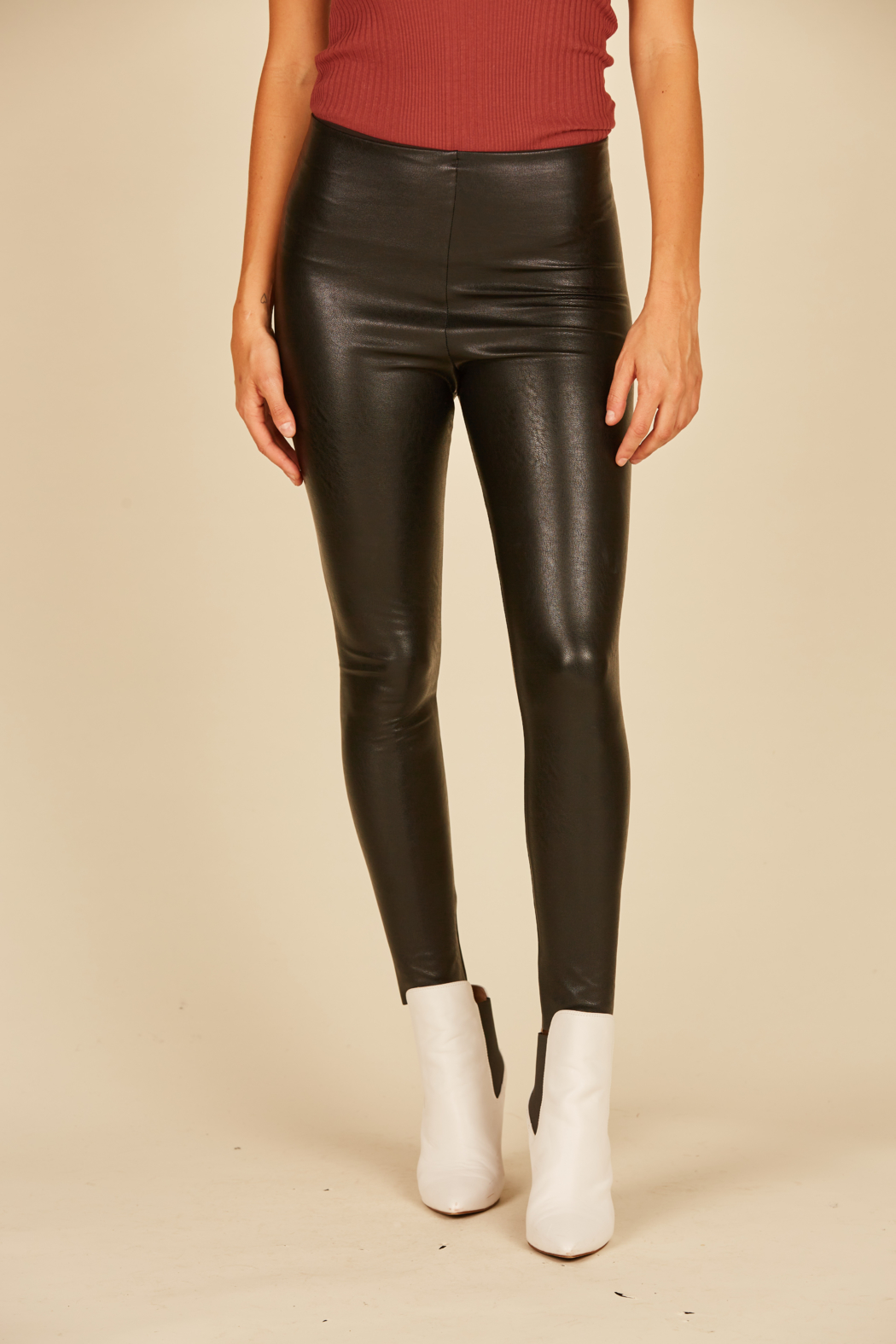 Vintage Havana Vegan Leather Legging - Main Image