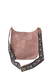 Ah!dorned VEGAN LEATHER MESSENGER BAG W/2