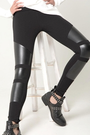 Tantrum Ink Vegan Leather-Panel Leggings - Product Mini Image