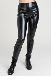 lelis Vegan Leather Pants - Front cropped