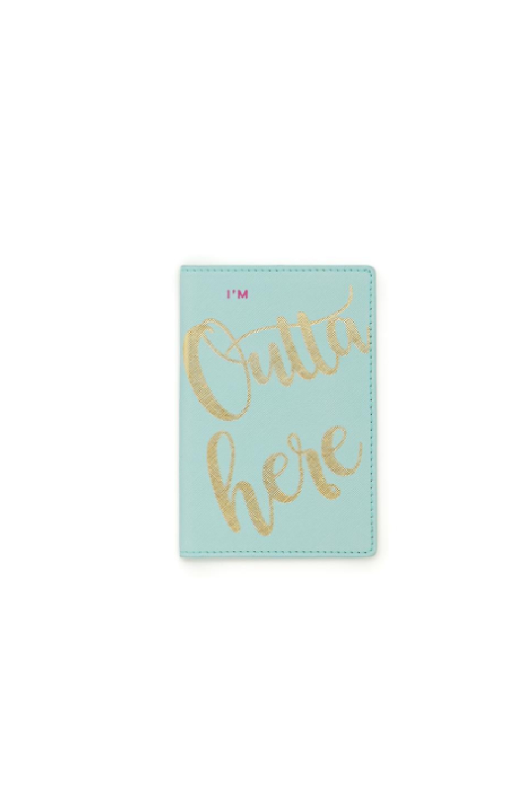 2 Chic Vegan Leather Passport Holder - Front Cropped Image
