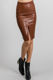 AAAAA Fashion Vegan Leather Pencil Skirt - Product Mini Image