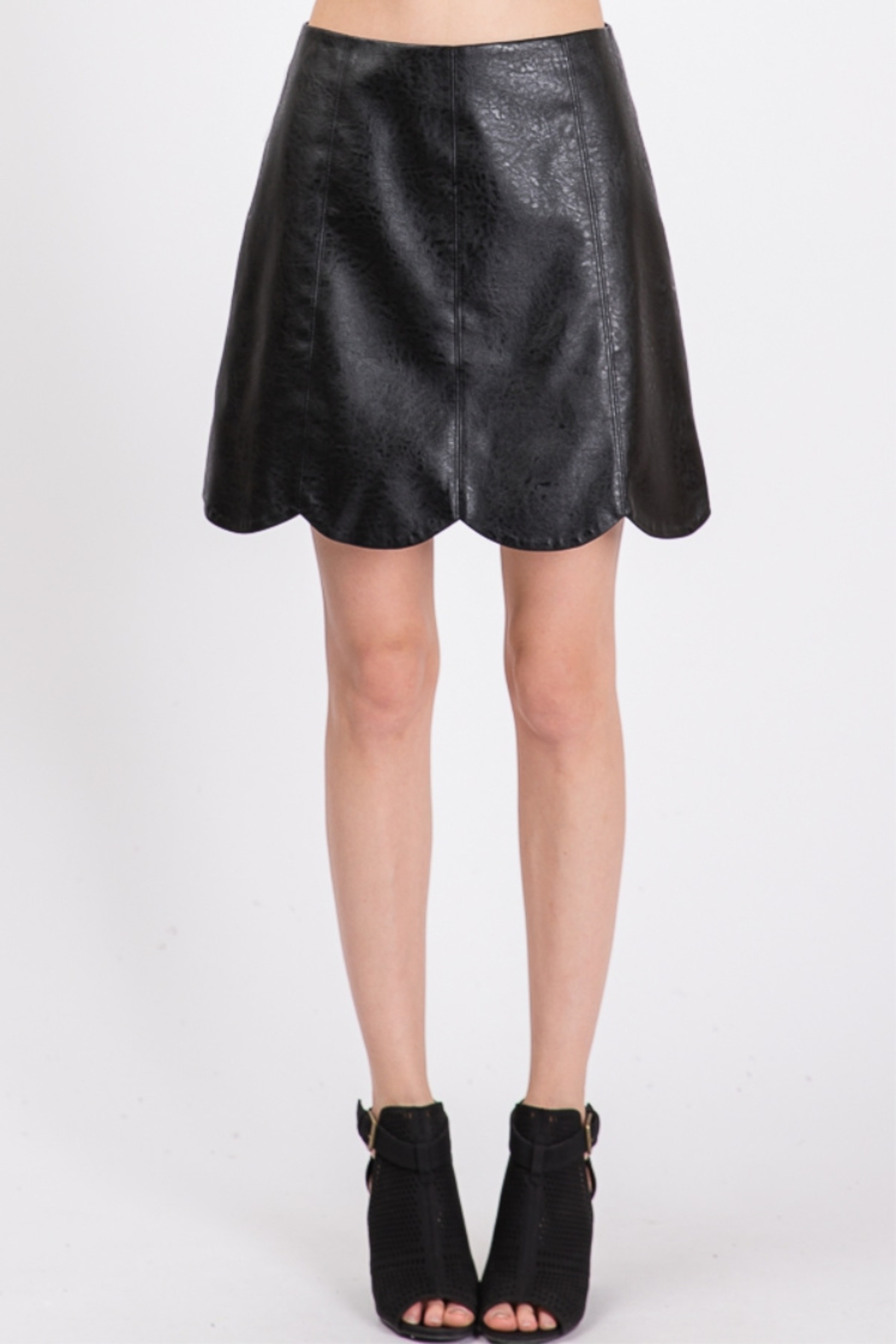 Lyn -Maree's Vegan Leather Scallop Skirt - Main Image