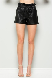 Comme USA Vegan Leather Shorts - Product Mini Image