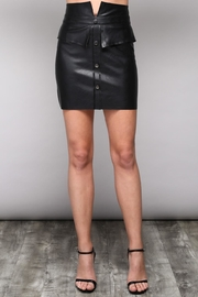 Do & Be Vegan Leather Skirt - Product Mini Image