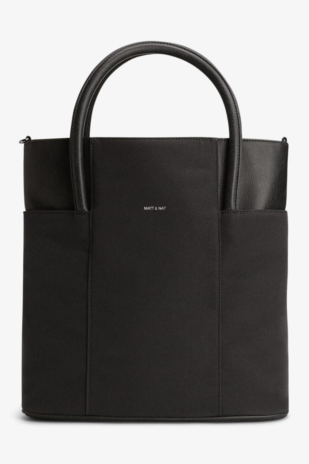 Vegan Leather Tote - Front Cropped Image