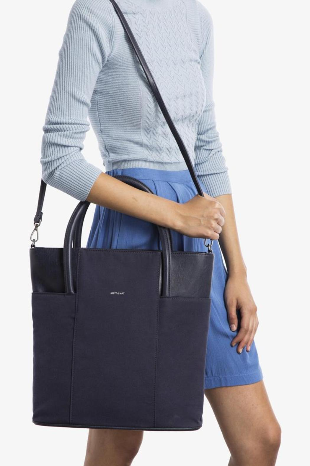 Vegan Leather Tote - Back Cropped Image