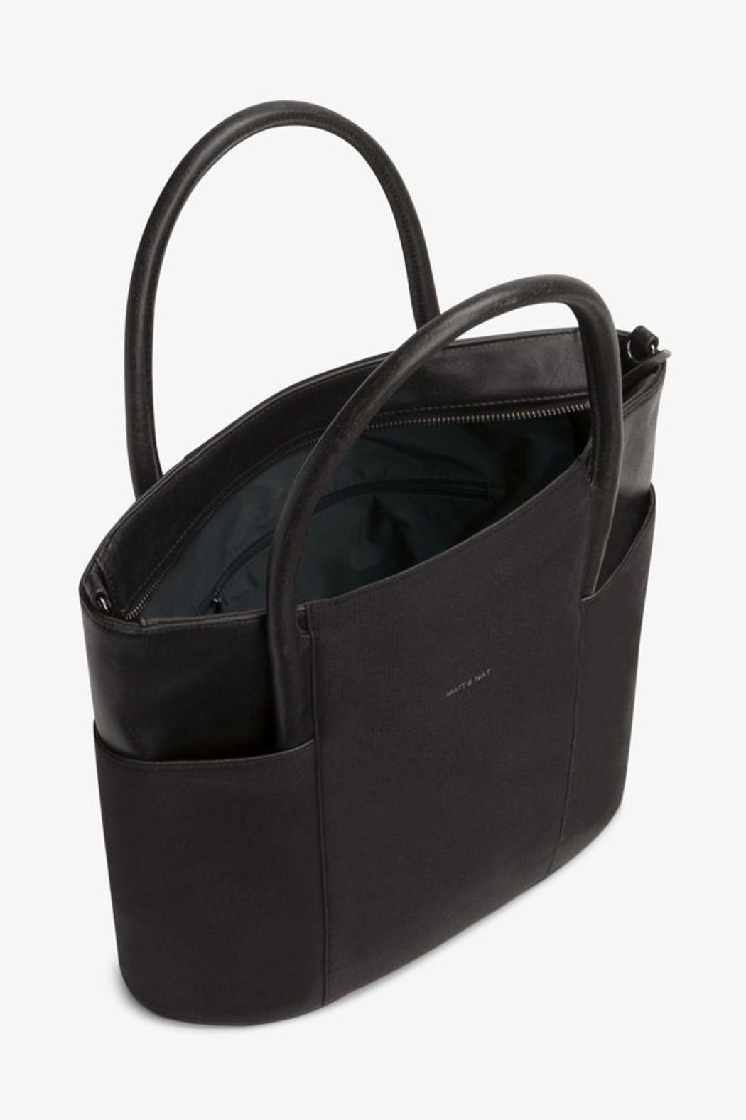 Vegan Leather Tote - Side Cropped Image