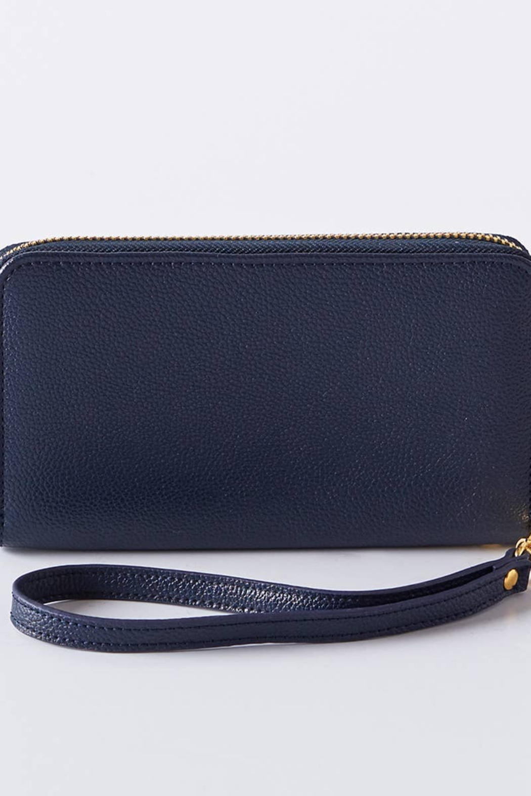 Boon Supply Vegan Leather Wristlet w/Wrist Strap - Front Cropped Image