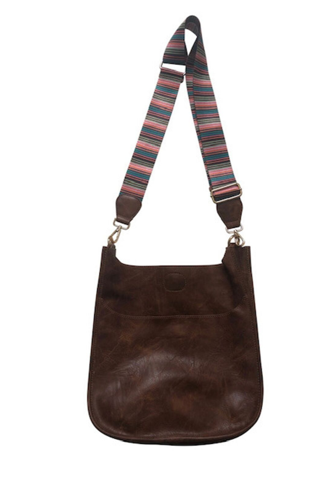 Ahdorned Vegan Messengers With Fancy Straps - Front Cropped Image