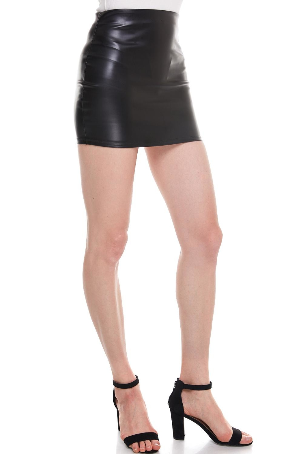 Better Be Vegan Mini Skirt - Front Full Image