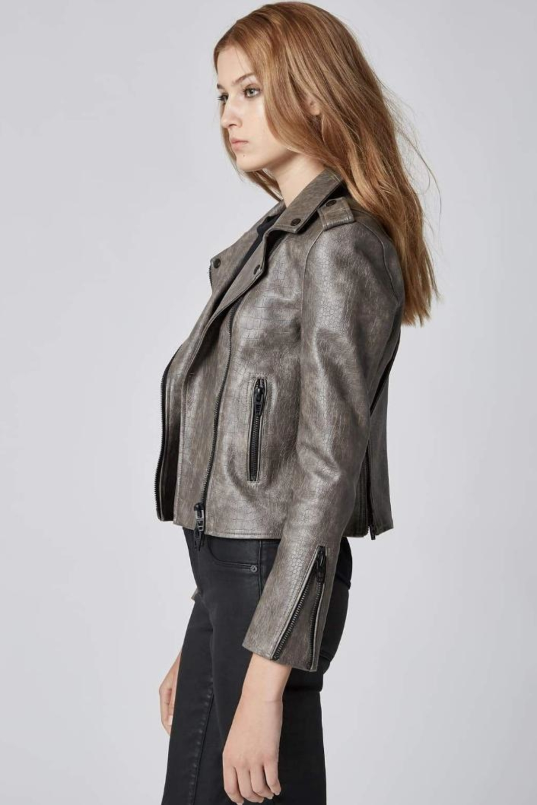 BlankNYC Vegan Moto Jacket - Side Cropped Image
