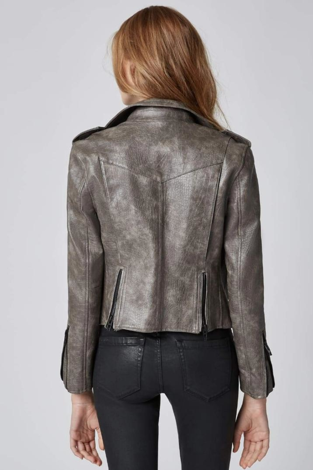 BlankNYC Vegan Moto Jacket - Back Cropped Image